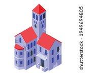 night creepy house icon.... | Shutterstock .eps vector #1949694805