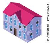 villa creepy house icon.... | Shutterstock .eps vector #1949695285