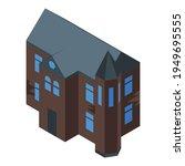 mystery creepy house icon.... | Shutterstock .eps vector #1949695555
