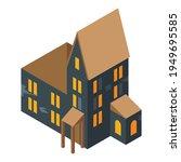 creepy big house icon.... | Shutterstock .eps vector #1949695585