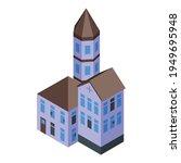 creepy house icon. isometric of ... | Shutterstock .eps vector #1949695948