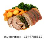 Roasted Rolled Lamb Breast Meat ...