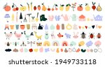 cute hand drawn spring icons ...   Shutterstock .eps vector #1949733118