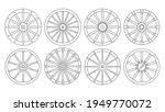 wheel of west wild isolated...   Shutterstock .eps vector #1949770072