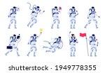 astronaut characters. cosmonaut ...   Shutterstock .eps vector #1949778355