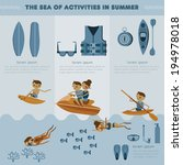 the sea of activities in summer ... | Shutterstock .eps vector #194978018