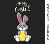 Happy Easter. Easter Rabbit...