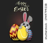 Happy Easter. Rabbit With...