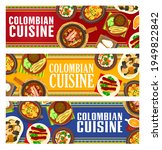 colombian cuisine vector fried...