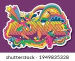 love lettering psychedelic art...   Shutterstock .eps vector #1949835328
