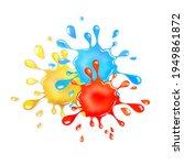 glitter goo splash. red  yellow ...   Shutterstock .eps vector #1949861872