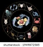 pisces vector of astrology... | Shutterstock .eps vector #1949872585