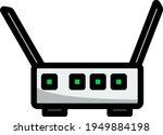 wi fi router icon. editable...