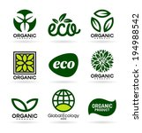 icons of organic products and... | Shutterstock .eps vector #194988542