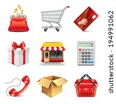 shopping store icons high... | Shutterstock .eps vector #194991062