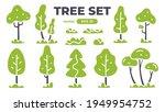 trees set. plants isolated.... | Shutterstock .eps vector #1949954752