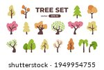 colorful trees set. doodle for... | Shutterstock .eps vector #1949954755
