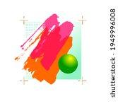 golden crosses and pink  orange ... | Shutterstock . vector #1949996008