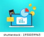work with money via internet....   Shutterstock .eps vector #1950059965