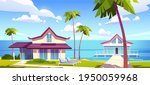 modern bungalows on island... | Shutterstock .eps vector #1950059968