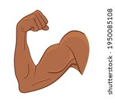 strong bicep arm muscle for...   Shutterstock .eps vector #1950085108