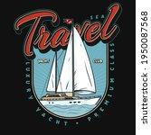 yacht club logo or emblem ...   Shutterstock .eps vector #1950087568