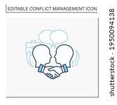 negotiation line icon. dispute... | Shutterstock .eps vector #1950094138