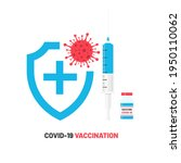 covid 19 vaccination.... | Shutterstock .eps vector #1950110062
