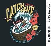 hawaii surfing vintage emblem... | Shutterstock .eps vector #1950112072