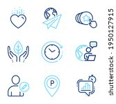 business icons set. included... | Shutterstock .eps vector #1950127915