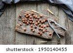 Hazelnut  Heap Or Stack Of...