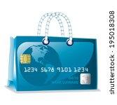 credit card bag vector | Shutterstock .eps vector #195018308
