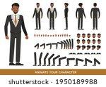 businessman wear black suit...   Shutterstock .eps vector #1950189988