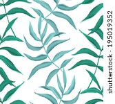 tropical leaves. seamless... | Shutterstock . vector #195019352