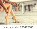 shoes of gold  | Shutterstock . vector #195019805