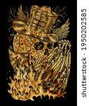 black and gold illustration...   Shutterstock . vector #1950202585