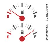 gas tank indicator icon. fuel... | Shutterstock .eps vector #1950208495