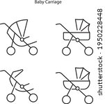 baby stroller icon isolated on...