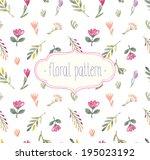vector watercolor seamless... | Shutterstock .eps vector #195023192