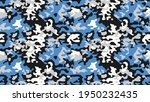 military blue camouflage ... | Shutterstock .eps vector #1950232435