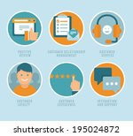 vector flat customer experience ... | Shutterstock .eps vector #195024872