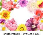 watercolor drawing flowers  ... | Shutterstock . vector #1950256138