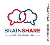 brain share vector logo...   Shutterstock .eps vector #1950259822