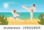 martial arts flat composition...   Shutterstock .eps vector #1950318535