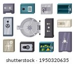 modern safes set. compact and... | Shutterstock .eps vector #1950320635