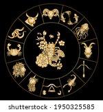 scorpio vector of astrology... | Shutterstock .eps vector #1950325585