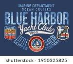 extreme sailing regatta yacht... | Shutterstock .eps vector #1950325825