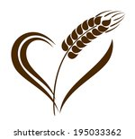 abstract wheat ears icon with... | Shutterstock .eps vector #195033362