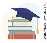 graduation mortarboard or... | Shutterstock .eps vector #1950339178
