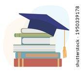 graduation mortarboard or... | Shutterstock .eps vector #1950339178